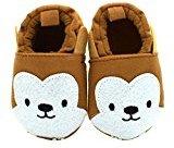 Binmer(TM) Baby Girls Boys Cloth Shoes Sneaker Anti-slip Soft Sole Toddler (6~12 Month, Coffee)