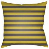 Surya Harvest Stripes Square Throw Pillow