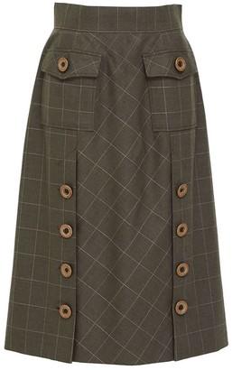 Doyi Park Big Button Pocket Skirt Dg