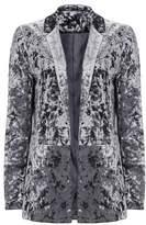 Wallis Dark Grey Velvet Blazer