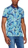 Gant Men's O2. Jungle Parrot Print SS Rugger Polo Shirt