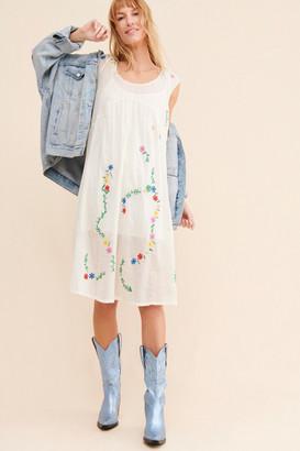 Kimchi & Blue Leila Embroidered Midi Dress