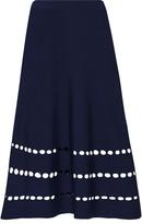 Ohne Titel Cutout stretch-knit skirt