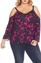 Plus Size Women's Rebel Wilson X Angels Cold Shoulder Top