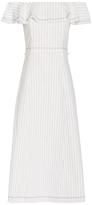 Alexander Wang Burlap Off-The-Shoulder Dress