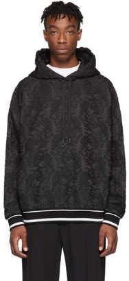 Dolce & Gabbana Black Embroidered Hoodie