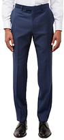 Jaeger Wool Gingham Slim Fit Suit Trousers, Navy