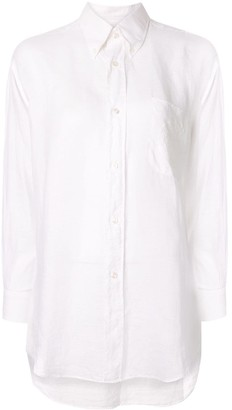 Hermes Pre Owned embroidered crest shirt