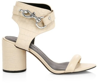 Rebecca Minkoff Malina Ankle-Cuff Leather Sandals