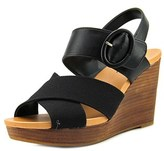 Dr. Scholl's Modest Open Toe Leather Wedge Sandal.