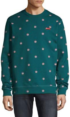 ICECREAM Printed Cotton-Blend Sweatshirt