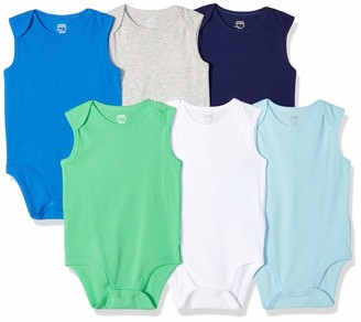 Amazon Essentials Baby Boys 6-Pack Sleeveless Bodysuits