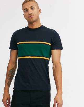 Fred Perry panel t-shirt in navy