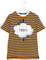 Fendi striped T-shirt - kids - Cotton - 6 yrs