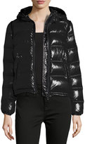 Burberry Mapleford 2-in-1 Glossy Puffer Jacket w/ Zip-Off Sleeves, Black