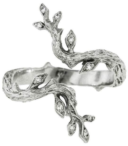Cathy Waterman Open Leaf and Branch Ring