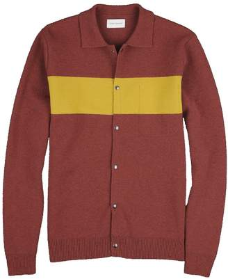 Oliver Spencer Red Yellow Roxwell Knitted Jacket - m - Red/Yellow