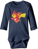 UIJNS Bodysuits Flash Pikachu Baby Long Sleeve Bodysuits