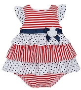 Little Me Girls' Americana Tiered Dress - Baby