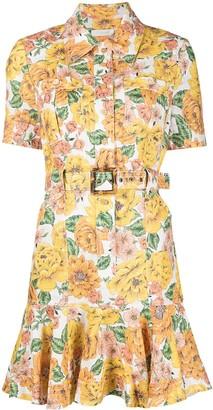Zimmermann All-Over Floral Print Shirt Dress
