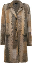 Avant Toi embroidered knitted coat