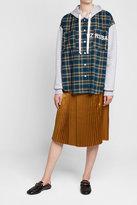 Public School Pleated Silk Skirt