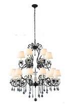 Merissa 18 - Light Shaded Tiered Chandelier with Crystal Accents Rosdorf Park Finish: Vintage Bronze