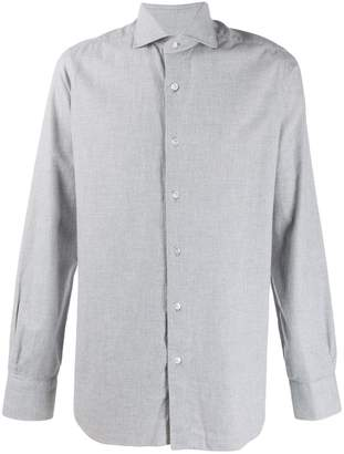 Barba long-sleeve fitted shirt