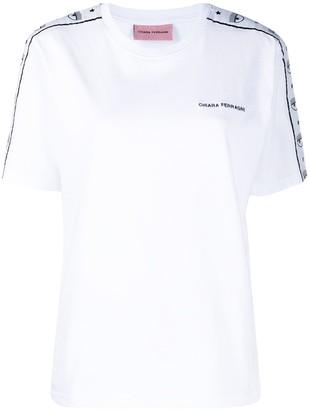 Chiara Ferragni Logomania embroidered T-shirt