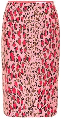 Carolina Herrera Printed stretch-cotton skirt