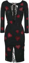 Philipp Plein heart embellished dress