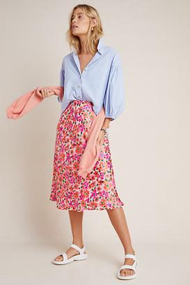 Maeve Ravenna Bias Midi Skirt By in Pink Size XS