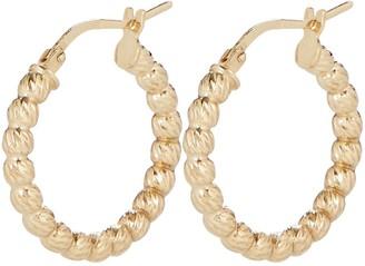 Argentovivo Ball Chain Hoop Earrings