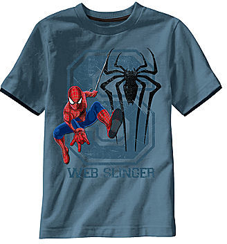 Spiderman Novelty T-Shirts Graphic Tee - Boys 6-18