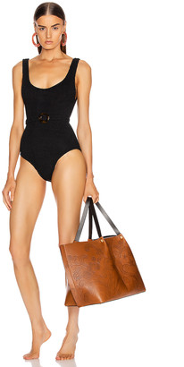 Hunza G Solitaire Swimsuit in Black | FWRD