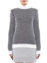 Richard Nicoll Bi-colour cotton-blend sweater
