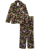 Komar Kids Olive Woodland Camo Pajama Set - Boys
