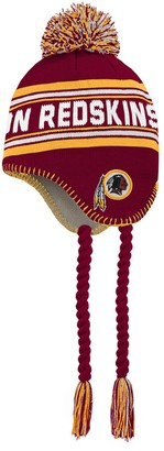 Redskins Preschool Burgundy/Gold Washington Jacquard Tassel Knit Hat with Pom