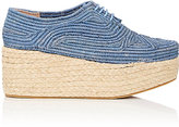 Robert Clergerie Women's Pintom Raffia Platform Oxfords