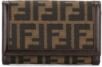 Fendi Pre Owned Zucca Pattern Bifold Wallet