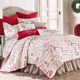 Levtex Home Merry Way Reversible Twin Quilt Set in Red/White