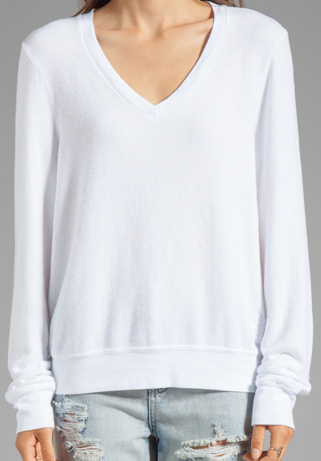 Wildfox Couture Baggy Beach Long Sleeve V-Neck
