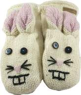 Revive Online Men's Nepal Animal Mittens Wool Hand Made Rabbit