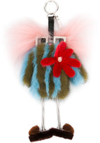 Fendi bag bugs keyring - women - Mink Fur/Racoon Fur/metal - One Size