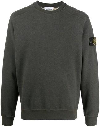 Stone Island Logo-Patch Jersey Sweatshirt