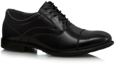 Hush Puppies Black Leather Stitched Lace Up Shoes