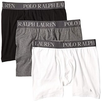 Polo Ralph Lauren 4D-Flex Lightweight Boxer Briefs 3-Pack (White/Fortress Grey Heather/Polo Black) Men's Underwear