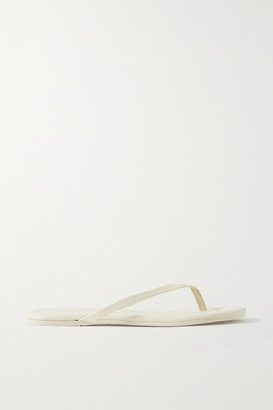TKEES Lily Leather Flip Flops - Ivory