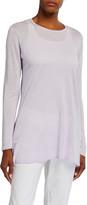 Eileen Fisher Fine Silk/Organic Linen Long-Sleeve Tunic Sweater