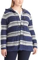 Chaps Plus Size Hooded Jacquard Cardigan